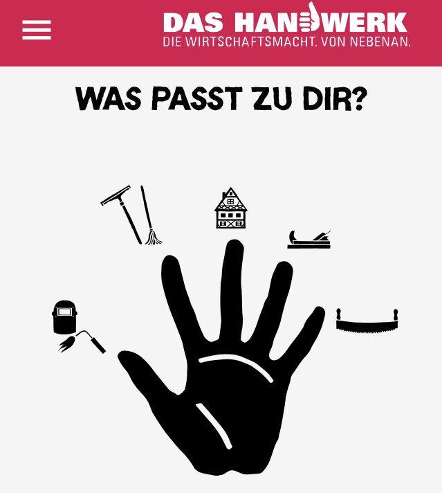Berufe-Checker: Screenshot Handwerkskammer App