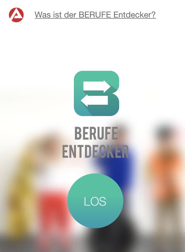 Screenshot Berufeentdecker Arbeitsagentur App