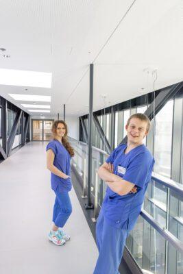 Niklas und Marie Charlotte im Klinikum Lüneburg